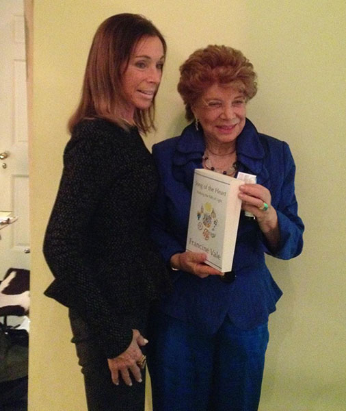 Francine Vale and author Carole Hyatt